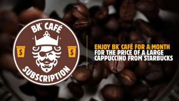 Burger King Now Offers a $5 Per Month Coffee Subscription