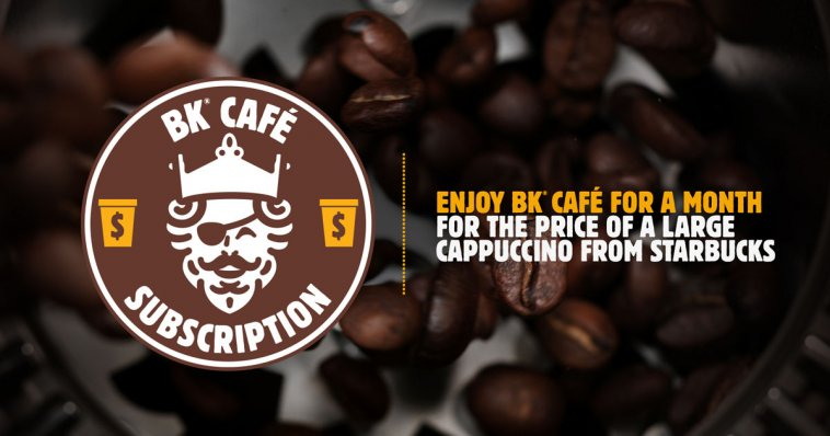 Burger King's Coffee Subscription