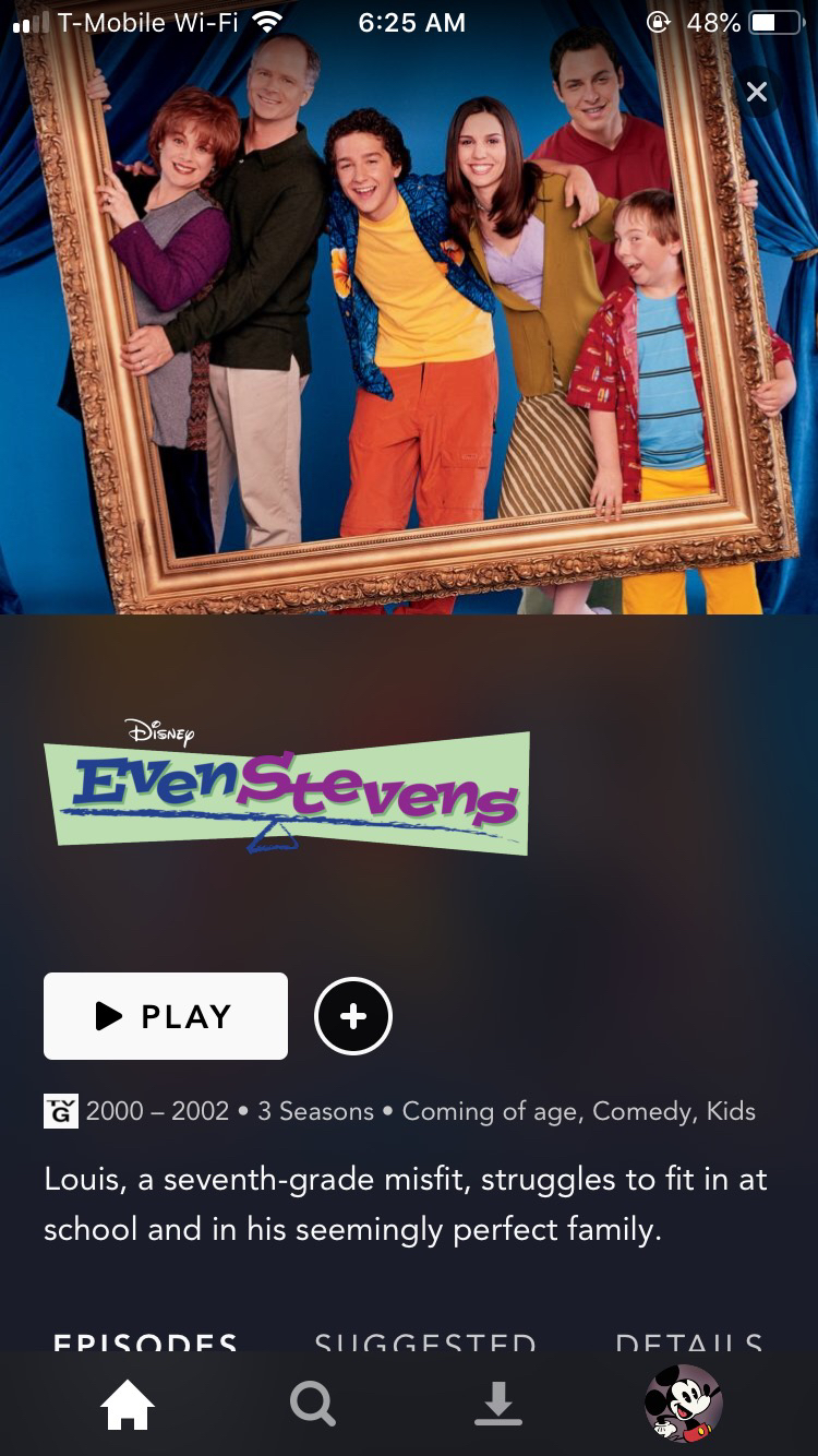 'Even Stevens' on Disney+