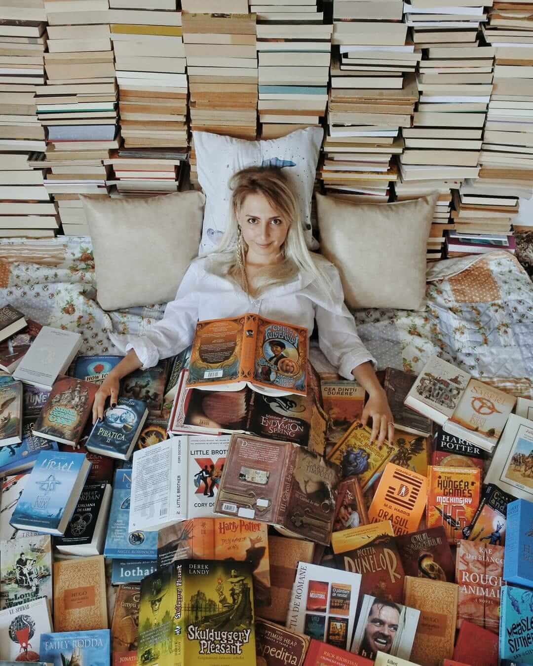 The Girl Who Poses With Books: An Epic Photo Journey - PopMalt