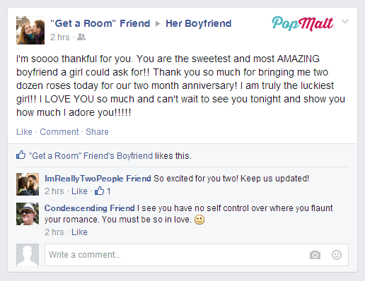 Annoying Facebook Friends: Get a Room Friend