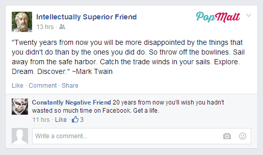 Annoying Facebook Friends: Intellectually Superior Friend