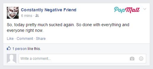 Annoying Facebook Friends: Constantly Negative Friend