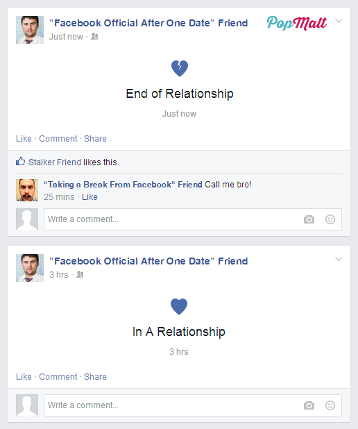Annoying Facebook Friends: Facebook Official After One Date Friend