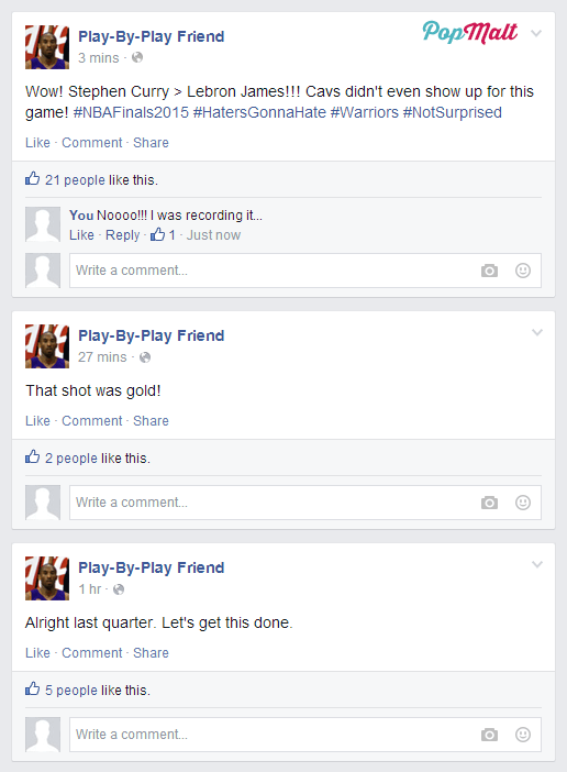 Annoying Facebook Friends: Play-By-Play Friend