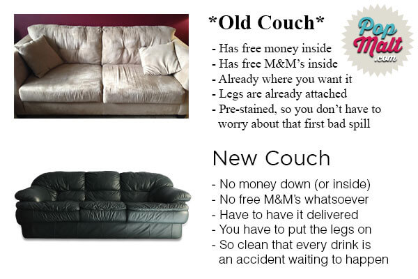 A couch saved is a couch earned.