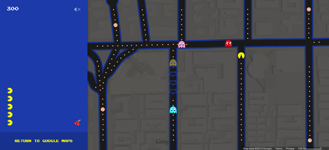 Head over to Google Maps and play some Pac-Man
