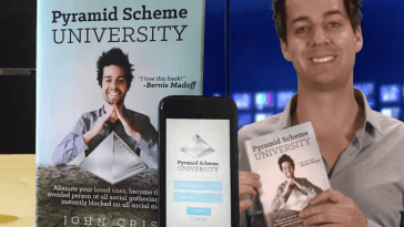 """Pyramid Scheme University"" Infomercial Hilariously Pitches Fictitious Book on Getting Rich Quick"