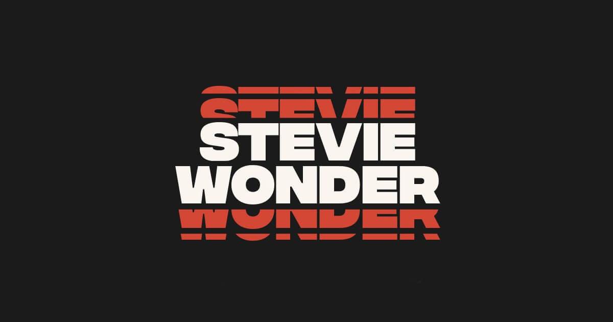 Stevie Wonder Lettering