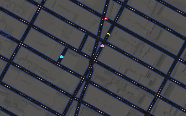 Play Pac-Man in Times Square! (Via Google Maps)