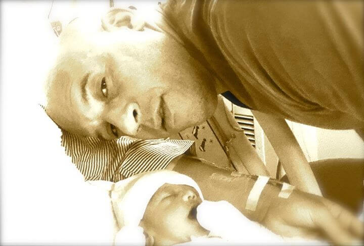 Vin Diesel shared this image of him and daughter Pauline on his Facebook page.